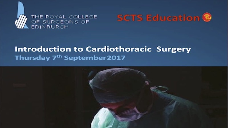 Introduction to Cardiothoracic Surgery