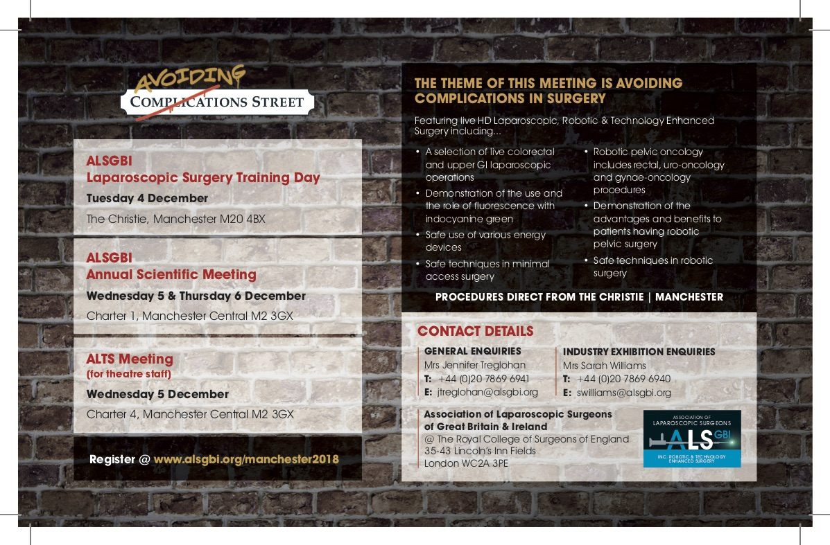 ALSGBI - Avoiding Complications In Surgery